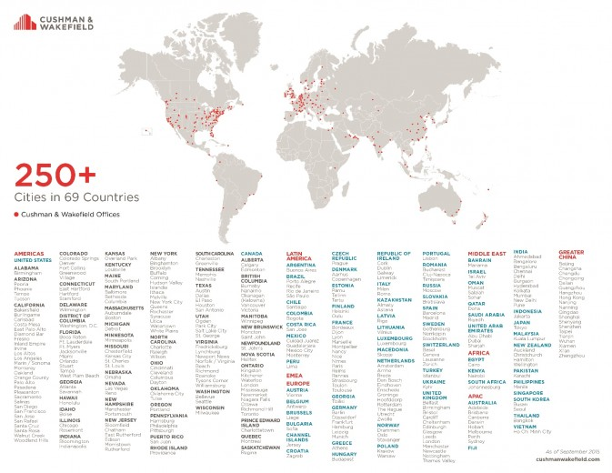 Global Office Location Map